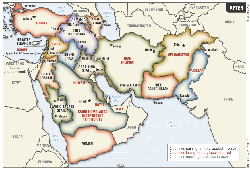 How The West Created ISIS - Map of countries the us has meddled with