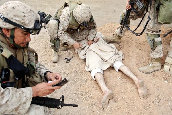 US soldiers in Fallujah