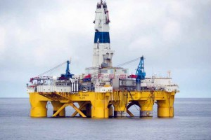 Shell's Polar Pioneer drilling rig in the Chukchi Sea off Alaska. The company announced it would cease exploration off Alaska's Arctic coast following disappointing results from a test well in the Chukchi. Shell Oil Co.