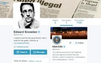 NSA whistleblower Edward Snowden is only following one other account on Twitter, and that is @NSAGov (Twitter/@Snowden/CBC News screenshot)