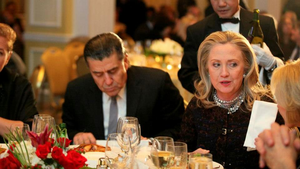 "Hillary Clinton wrote a letter to Haim Saban (left), the biggest giver on the Democratic side, saying that she will be speaking out publicly against BDS, the boycott, divestment and sanctions campaign aimed at Israel, and will work ""across party lines"" to oppose it. –"