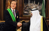 Prime Minister David Cameron pictured in 2012 meeting former Saudi King Abdullah.