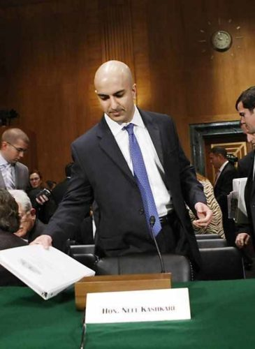 Neel Kashkari, assistant Treasury secretary in 2008, arrives at a Senate Banking Committee hearing on the U.S. financial crisis.