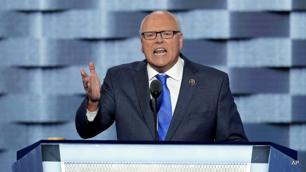 Rep. Joseph Crowley, D-NY., speaks during the second day of the Democratic National Convention in Philadelphia , Tuesday, July 26, 2016.
