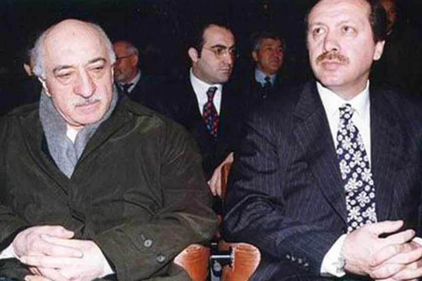 Until an open clash in 2013, Fetullah Gülen (left) was the éminence grise behind Recep Erdoğan's AK Party; Gülen is widely branded in Turkey as a CIA asset.