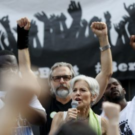 Dr. Jill Stein, Green Party presidential nominee, speaks at a rally in Philadelphia, Wednesday, July 27, 2016.