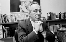 In an especially vain moment, Peres is pictured mimicking the pose of his political mentor, David Ben Gurion
