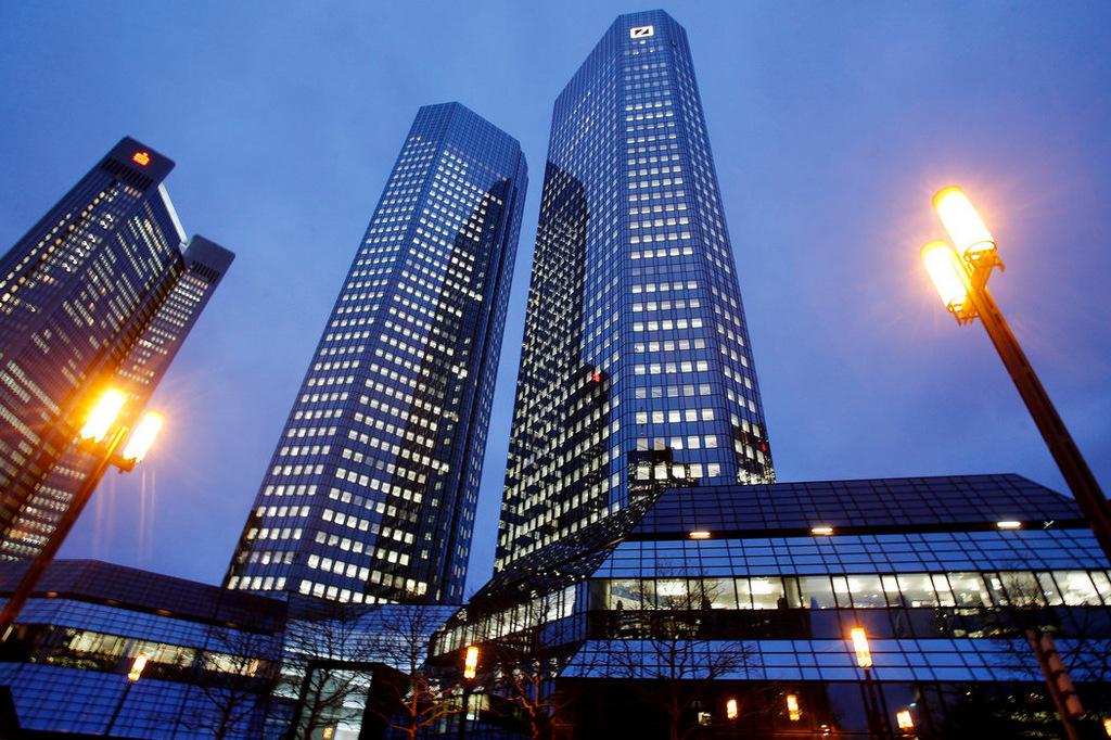 Deutsche Bank headquarters in Frankfurt. (Photo: Michael Probst/AP)