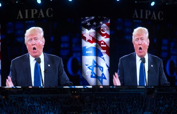 Republican presidential candidate Donald Trump speaks at the 2016 American Israel Public Affairs Committee (AIPAC) Policy Conference at the Verizon Center, on Monday, March 21, 2016, in Washington. (AP Photo/Evan Vucci)