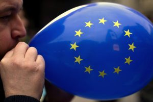 According to award-winning UK economist Roger Bootle, the European Union has grown unsustainable and due to various factors, in about to burst. (AP/Francisco Seco)