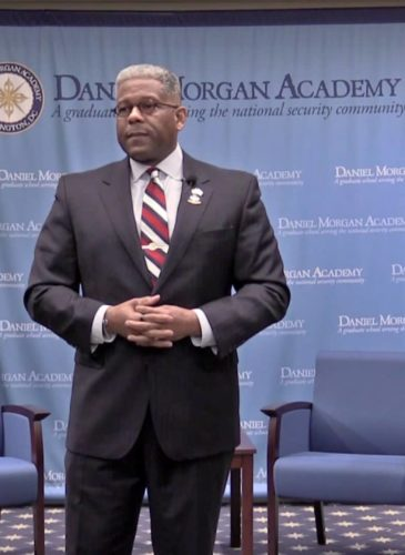 Former US Congressman and Fox News regular Allen West speaks at from Florida speaks at the Daniel Morgan Academy in downtown Washington. (Photo: Vimeo)