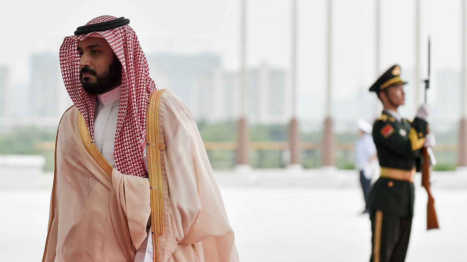 Saudi Arabia's Crown Prince Mohammed bin Salman arrives at the Hangzhou Exhibition Center to participate in G20 Summit, Sept. 4, 2016 in Hangzhou, China. (Etienne Oliveau/AP)