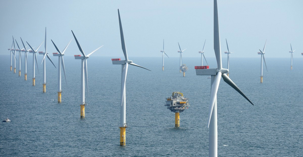 Pictured is the Sheringham Shoal Offshore Wind Farm near Suffolk, United Kingdom. (Photo/NHD-INFO via Flickr)