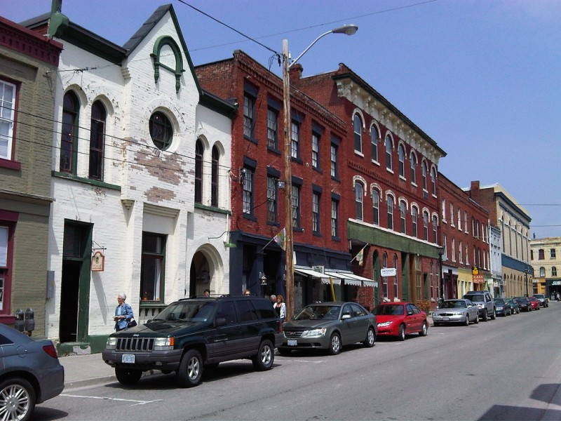John Street in Port Hope, Ontario in 2009. According to porthopehistory.com, much of this area was forcibly sold to Eldorado Mining through eminent domain during the middle of the 20th century. (Flickr / John Street)