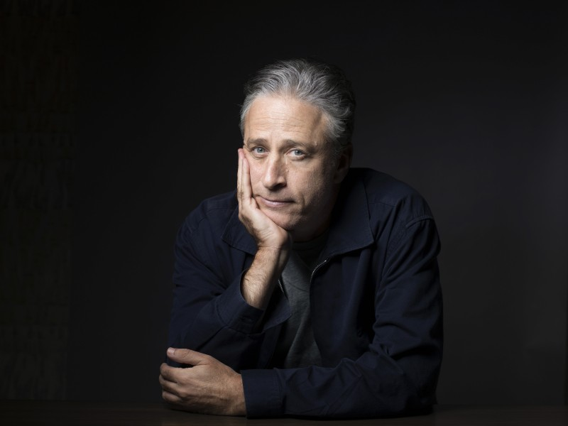 """In this Nov. 7, 2014 photo, Jon Stewart poses for a portrait in promotion of his film,""""Rosewater,"""" in New York. Jon Stewart made his final appearance on """"The Daily Show"""" on August 6, 2015. (Photo by Victoria Will/Invision/AP, File)"""