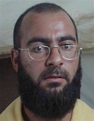 Mugshot of Abu Bakr al-Baghdadi taken by US armed forces while in dentention at Camp Bucca in 2004. (Wikimedia Commons / U.S. Government)