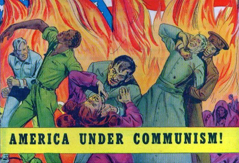 Cover of a 1947 Anti-Communist propaganda comic. (Wikimedia Commons / Catechetical Guild)