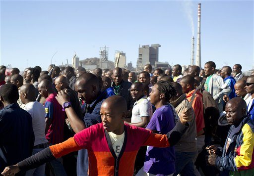 South African Gold Miners Go On Strike For Slave Wages