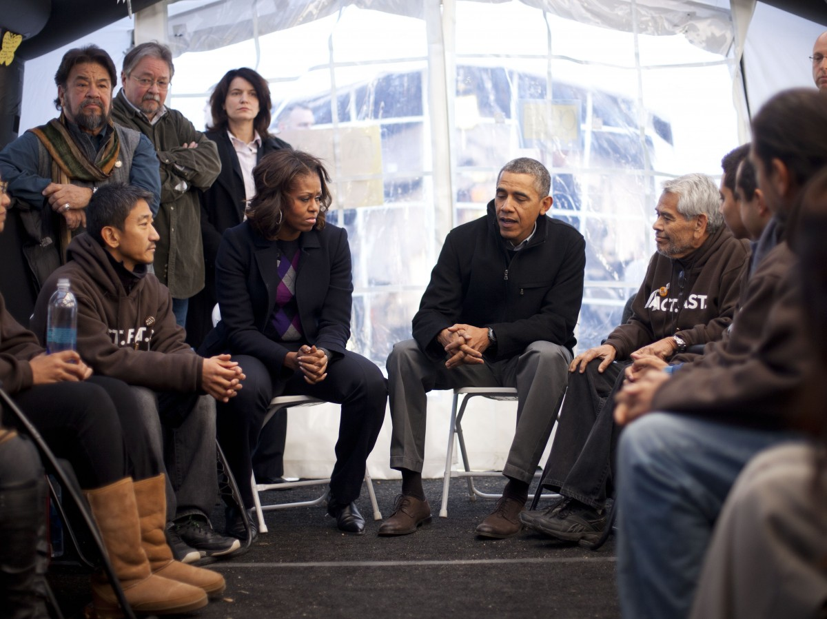 President Obama Visits Immigration Advocates Fasting For Reform