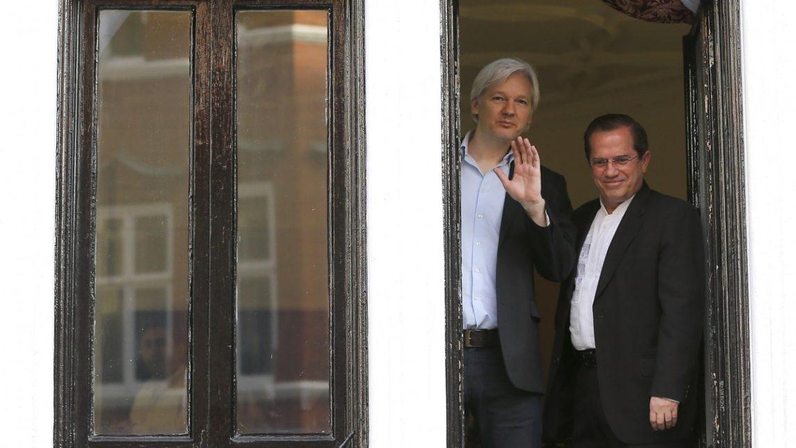 Cornered But Not Cowering, Assange Rails Against Government Surveillance