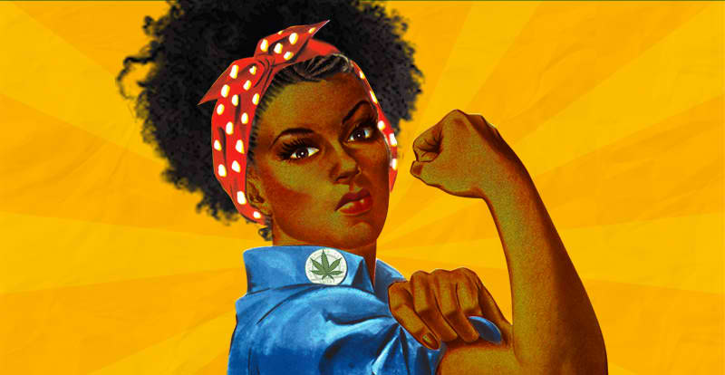 Rosie the Riveter marijuana version courtesy NORML Women's Alliance Foundation, Inc