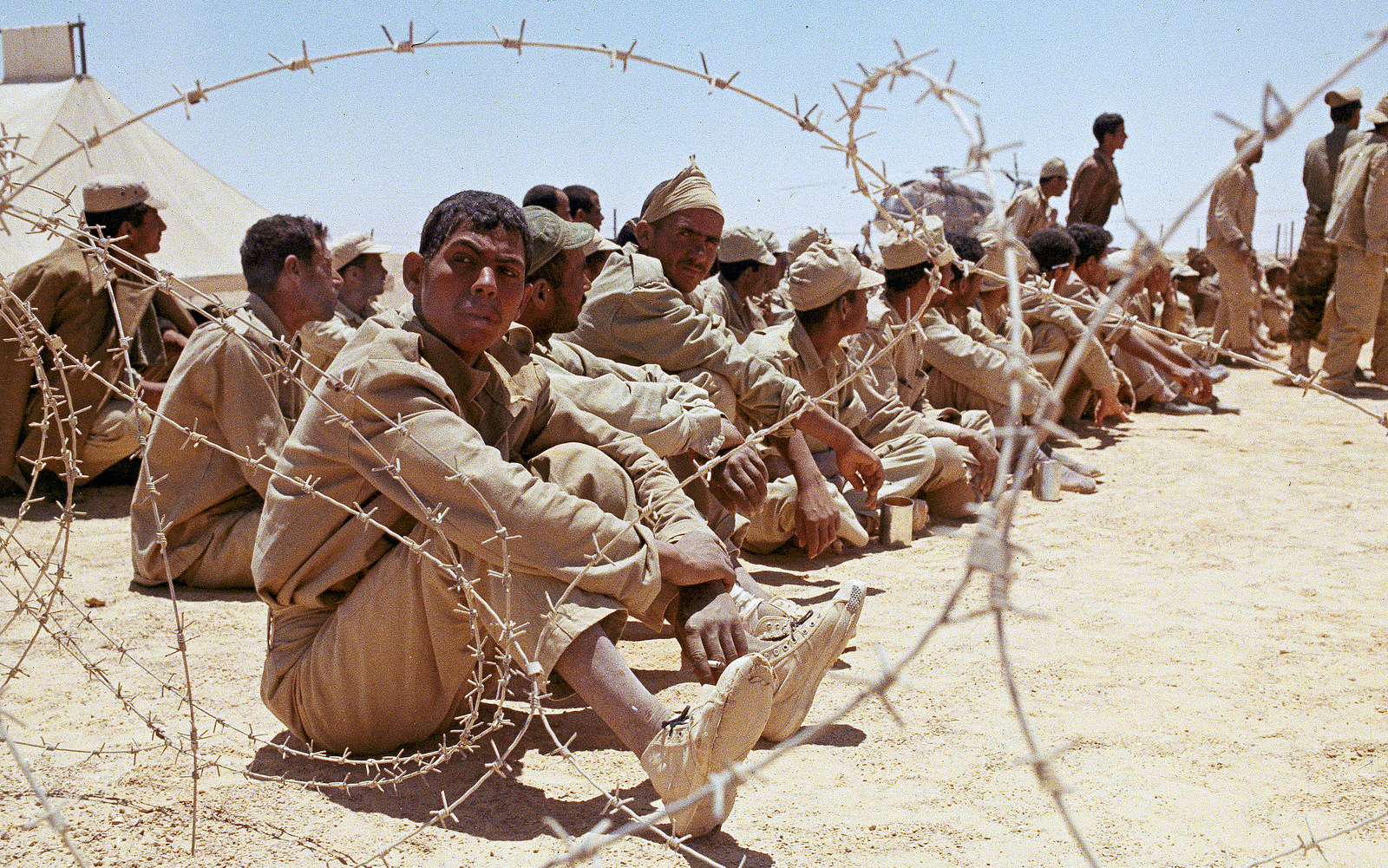 Arab Prisoners Are Shown Captured During The Arab Israeli Six Day War In June 1967