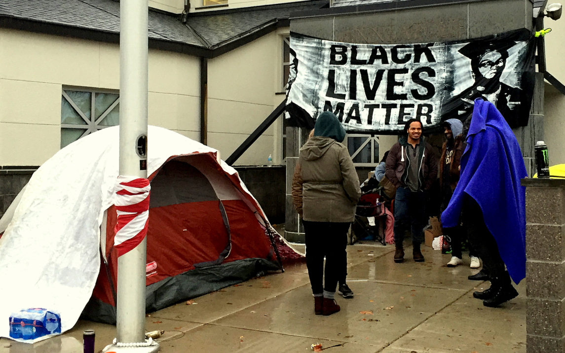Activists Occupy The Minneapolis Police Department After Shooting Of Jamar Clark