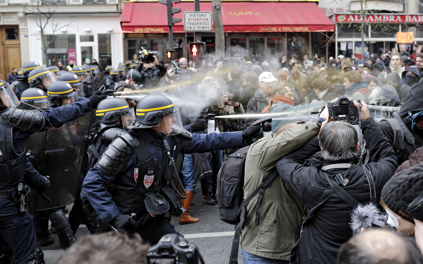 Heavy Clashes As French Riot Police Use Sweeping Powers To Crack Down On Climate Protesters