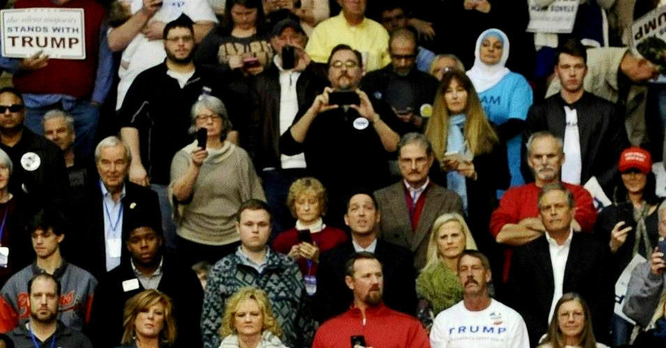 Muslim Woman Ejected From Trump Rally As Crowd Hurls Epithets