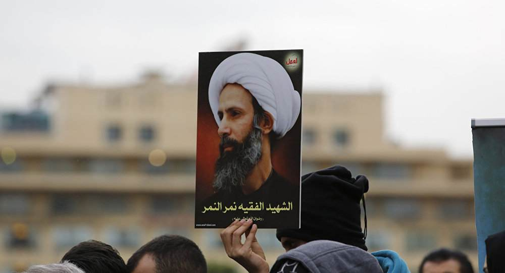 One of the hundreds of protests that broke out worldwide against the execution in Saudi Arabia of Sheikh Nimr al-Nimr (Abedin Taherkenareh, EPA)