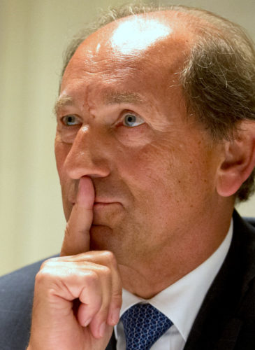 Paul Bulcke, CEO of Nestle, attends a press conference. (AP Photo/Saurabh Das)