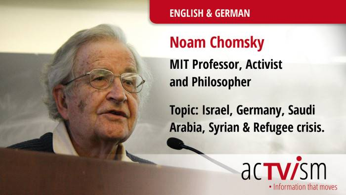Noam Chomsky: Refugee Crisis A Result Of 'US & British Invasion Of Iraq'