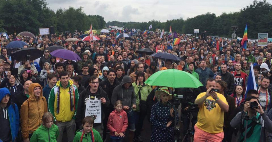 Germany: Thousands Surround US Air Base To Protest Drone Use