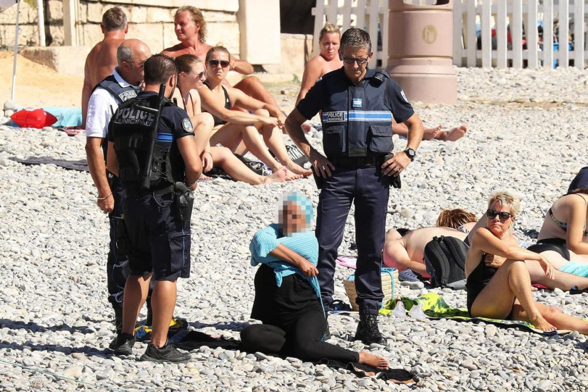 French Official Threatens Lawsuits Against Anyone Who Shares Images Of Police Harassing Muslim Women