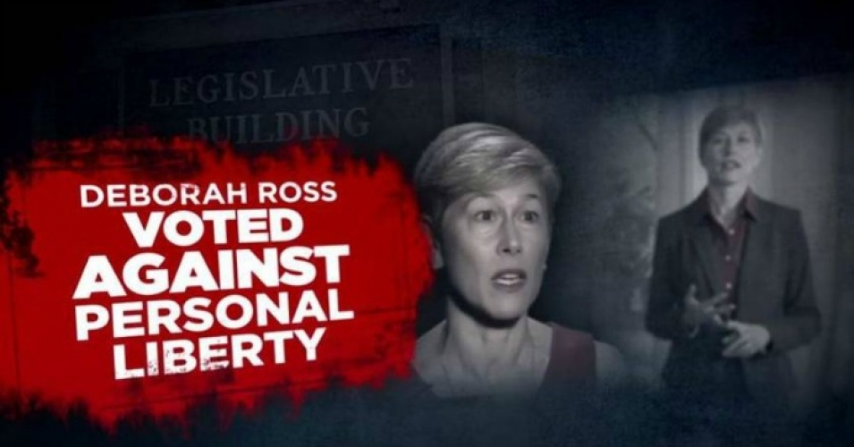 A clip from an NRA ad targeting Democratic Senate candidate Deborah Ross, who is challenging incumbent Republican Richard Burr in North Carolina. (Photo: Screenshot)