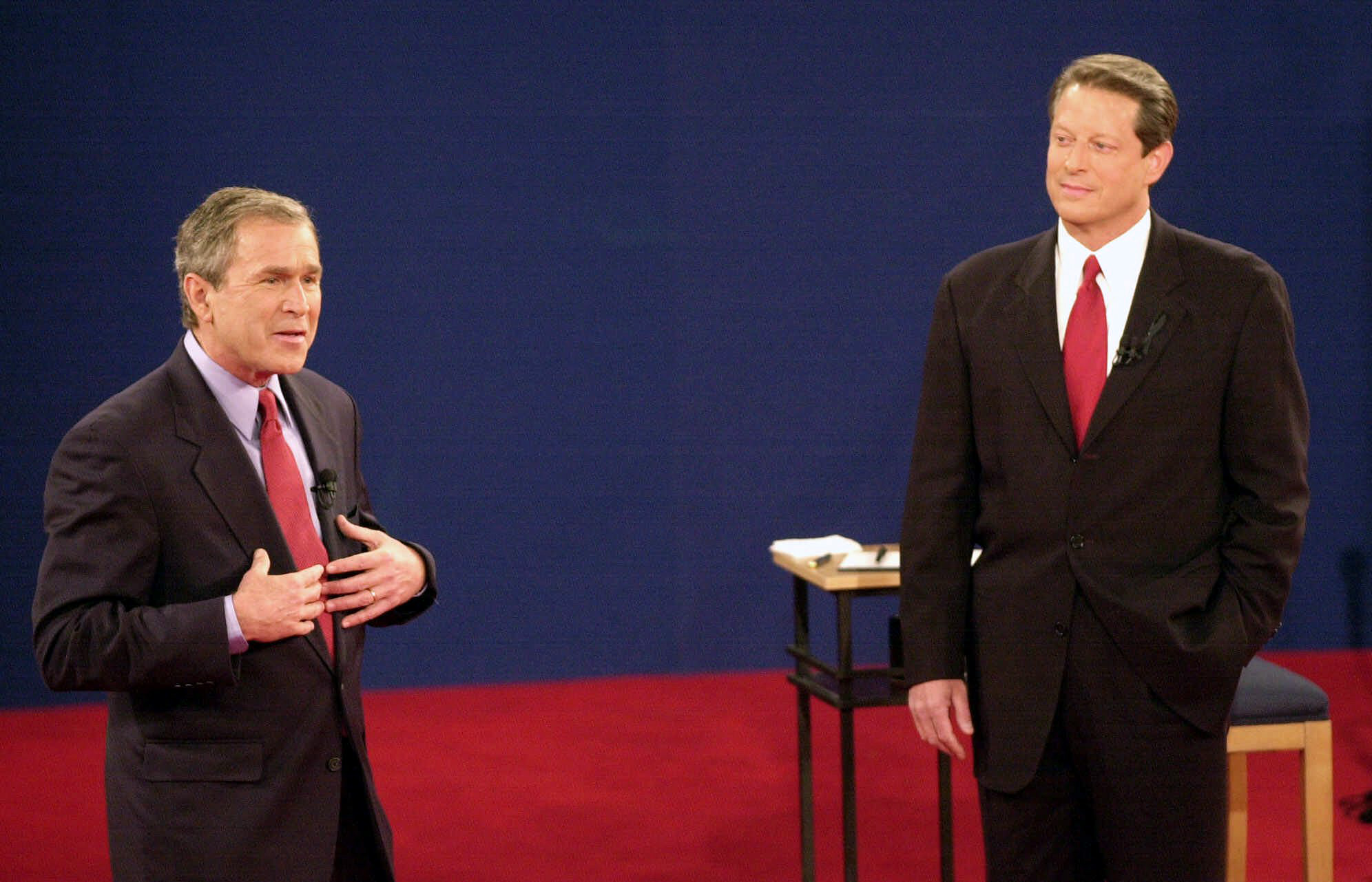 the presidential candidates bush and gore essay The us presidential election of 2000 was a contest between republican candidate governor george bush, the texas governor and democratic candidate al gore jr, current vp to bill clinton 2 / 523 gore vs bush.