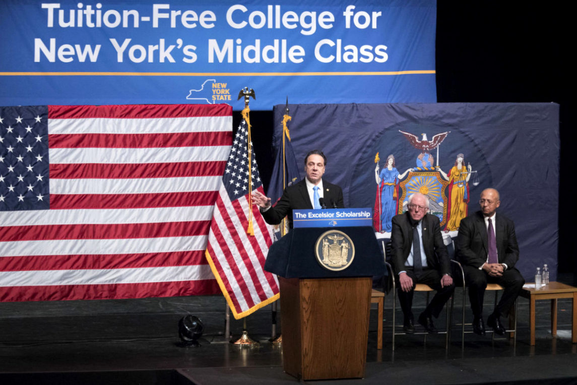 Alongside Sanders, NY Governor Announces First-In-Nation Free Tuition Plan