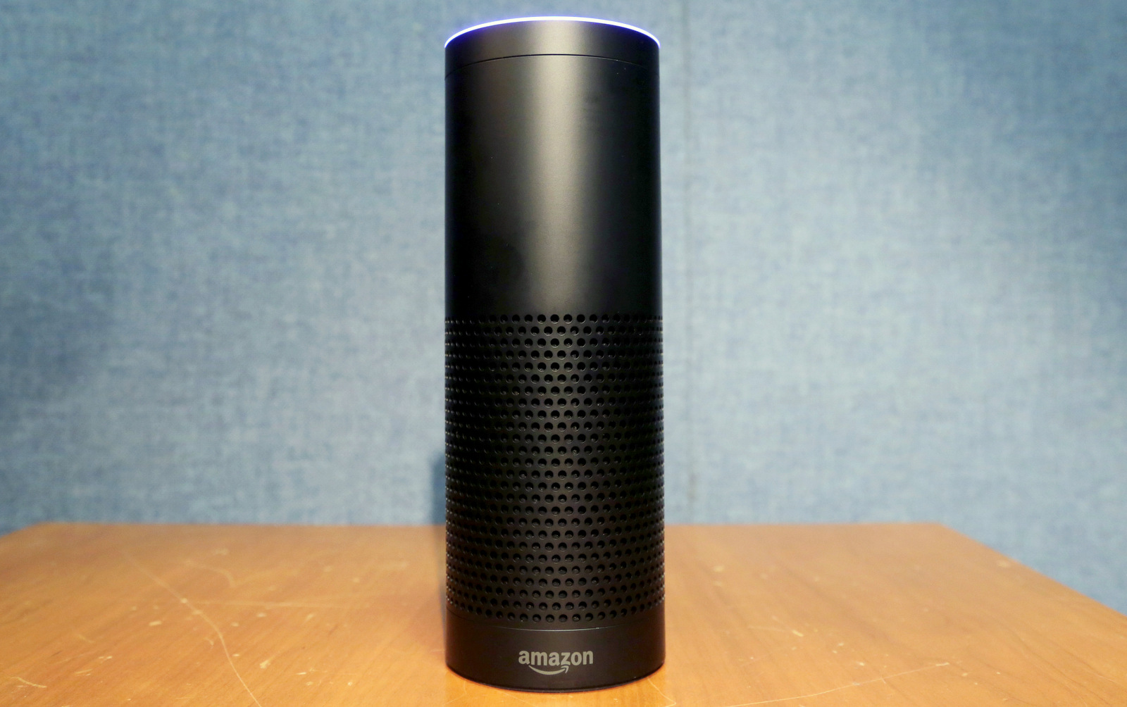 Amazon's Echo speaker, which responds to voice commands. A prosecutor investigating the death of a man whose body was found in a hot tub wants to expand the probe to include a potential new kind of evidence: the suspect's Amazon Echo smart speaker. (AP/Mark Lennihan)