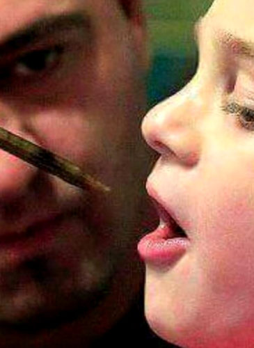 "Jayden shown taking CBD meds, a derivative of marijuana. (Photo /Jason David/Facebook page: ""Jason and Jayden's Journey"")"