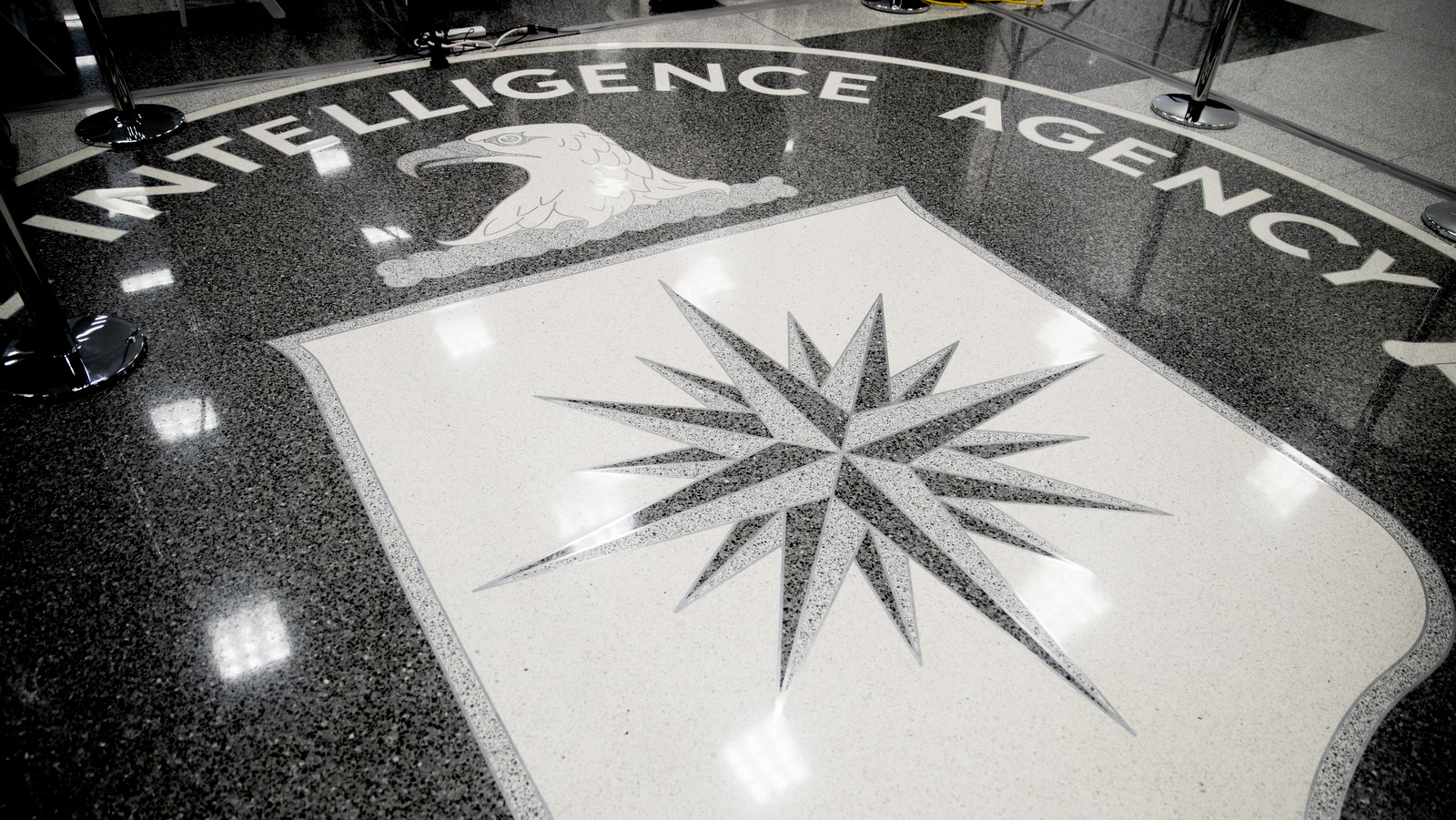 The floor of the main lobby of the Central Intelligence Agency in Langley, Va., Saturday, Jan. 21, 2017. (AP/Andrew Harnik)