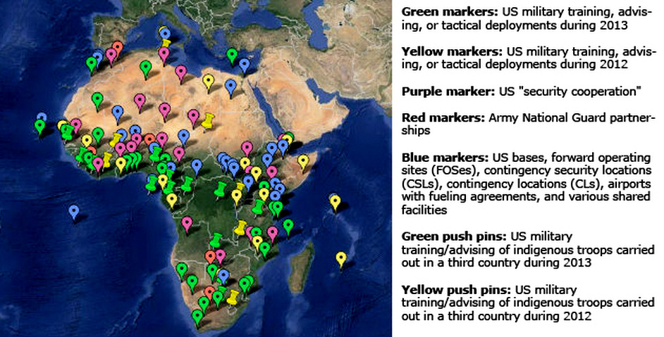 The U.S. Military's Pivot to Africa as of 2013. (Image: TomDispatch)