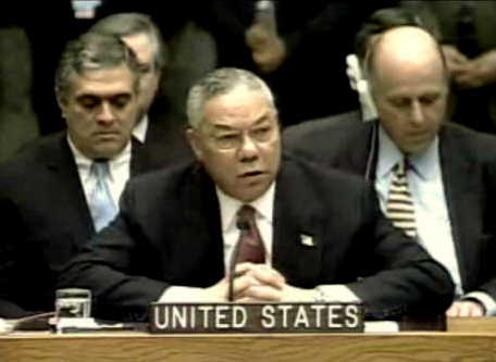 "Secretary of State Colin Powell addressed the United Nations on Feb. 5. 2003, citing satellite photos and other ""intelligence"" which supposedly proved that Iraq had WMD, but the evidence proved bogus."
