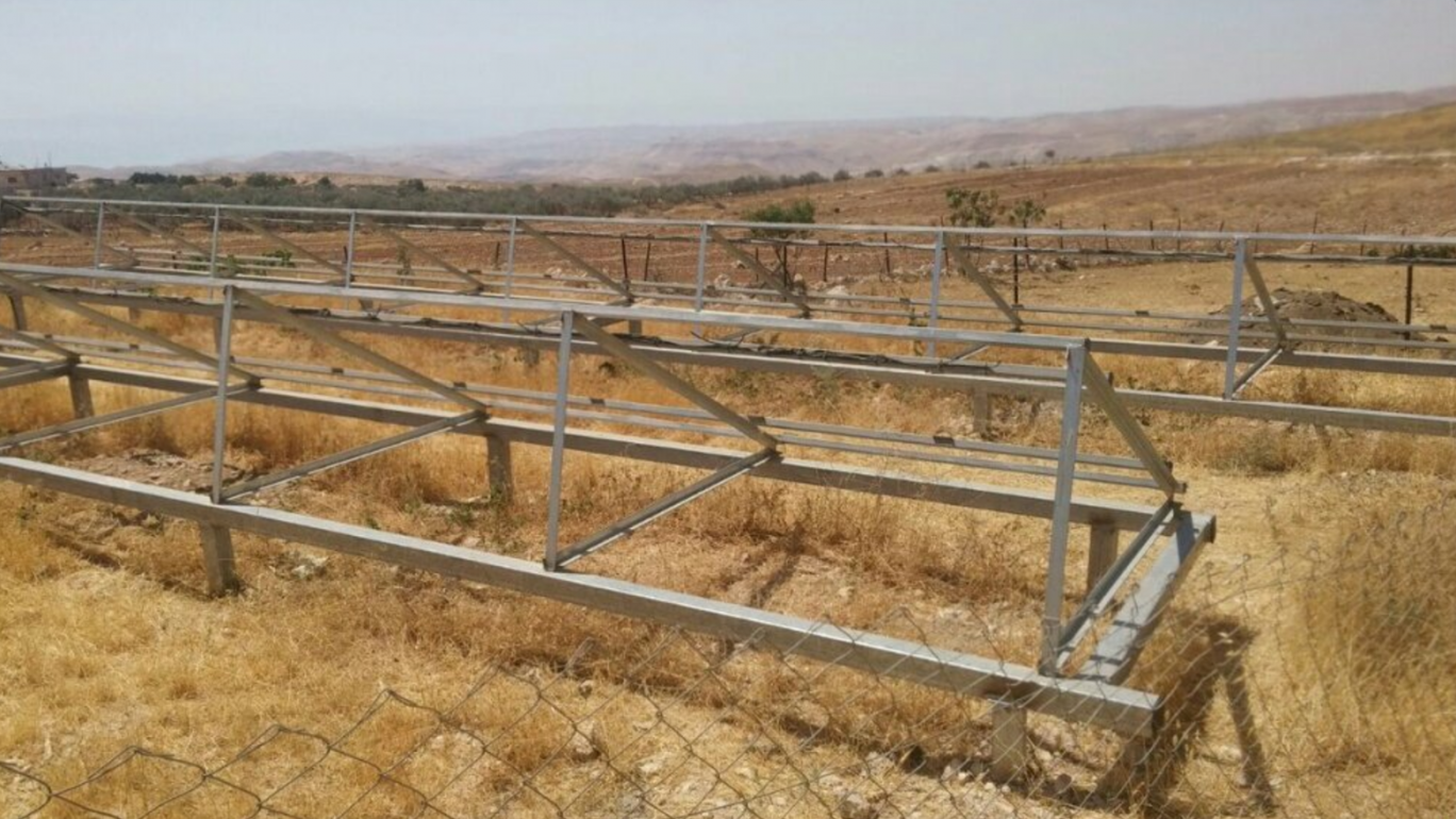 Israeli authorities insist that stop-work orders were issued before soldiers carried out raid on solar farm which allegedly did not have proper building permits.