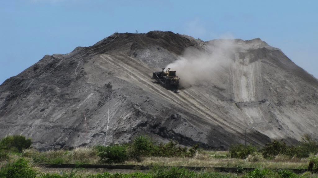 A coal ash mountain, part of the AES Guayama plant in Puerto Rico. (Photo: CPI file photo)