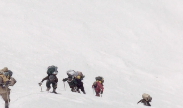 Into the freezer. A scene from Kangchenjunga 1955. British Film Institute/Royal Geographical Society