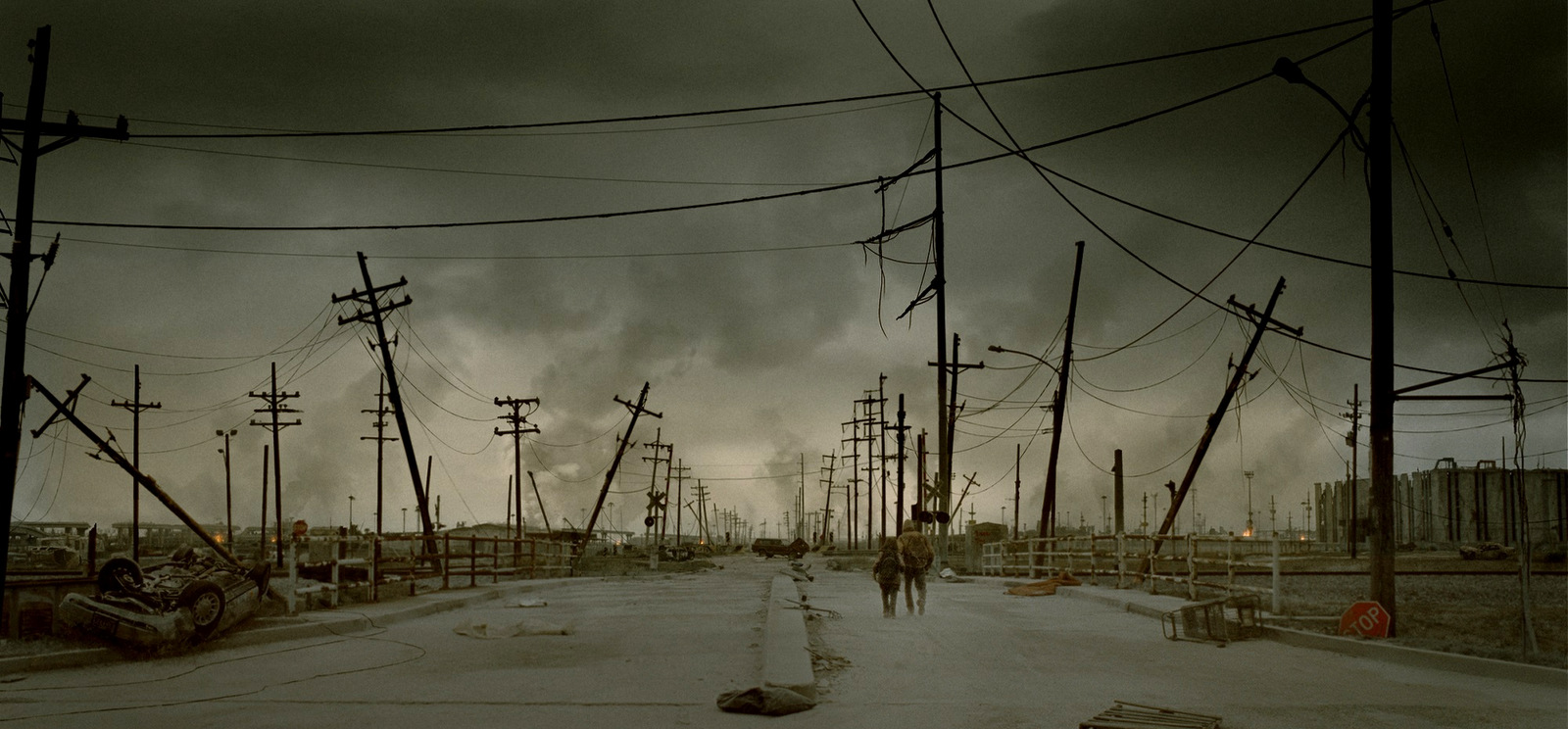 A still from the 2009 film, The Road, based on Cormac McCarthy's novel of the same name.