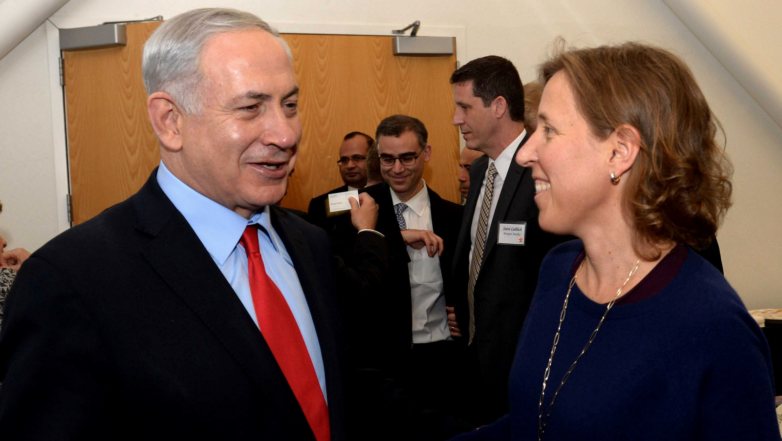 Israeli Prime Minister Benjamin Netanyahu meets with CEO of Youtube Susan Wojcicki, in Silicon Valley, California, March 06, 2014. (Photo: Avi Ohayon/GPO)