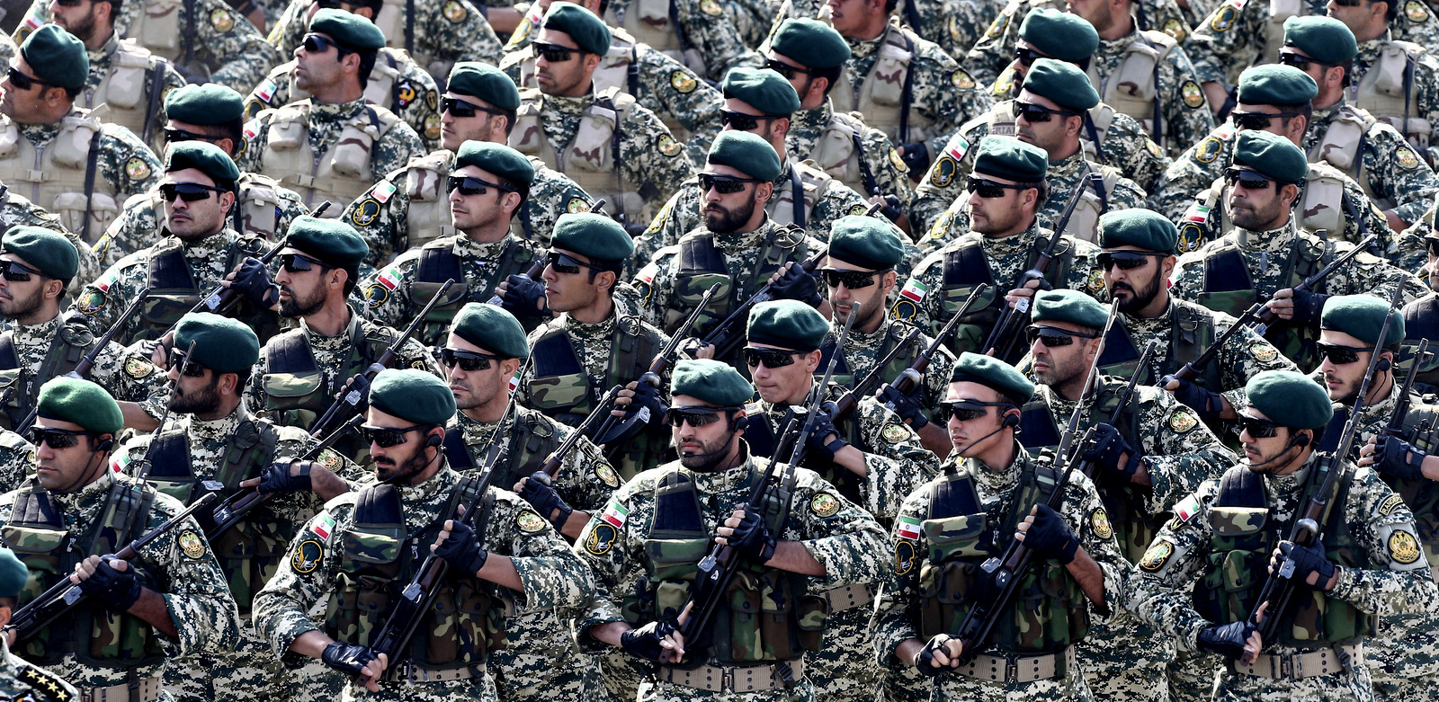 Iranian army troops march during a parade marking National Army Day in front of the mausoleum of the late revolutionary founder Ayatollah Khomeini, just outside Tehran, Iran, April 18, 2018. (AP/Ebrahim Noroozi)