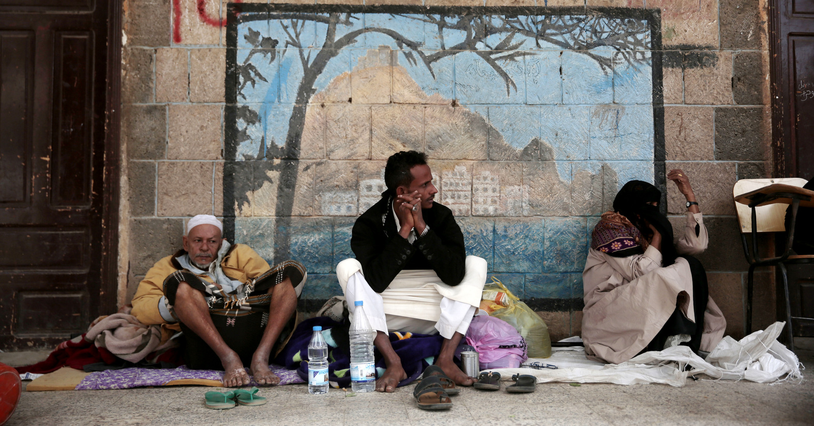 Displaced Yemenis, who fled their homes amid a deadly Saudi/UAE invasion of the port city of Hodeida, sit in a school allocated for IDPs in Sanaa, Yemen, Jun. 23, 2018. Hani Mohammed   AP