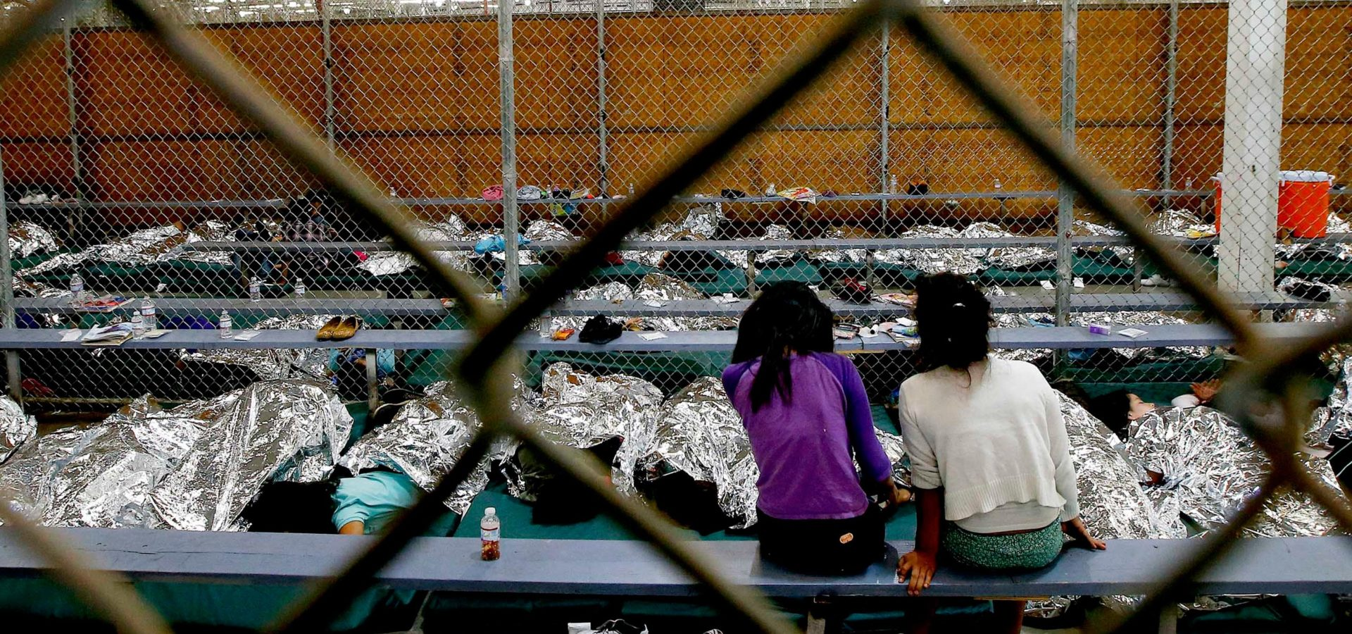 A holding area for mostly Central American immigrant children at the U.S. Customs and Border Protection Placement Center in Nogales, Ariz. July 17, 2014. Ross D. Franklin | AP